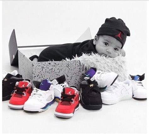 Baby & Jordans, I'm sooo doing this if I have another boy