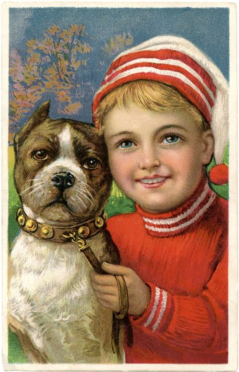 Free Christmas Picture - Adorable Boy with Dog! - The